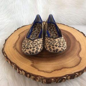 Rothy's Shoes - Rothy's animal print round toe flats LIKE NEW